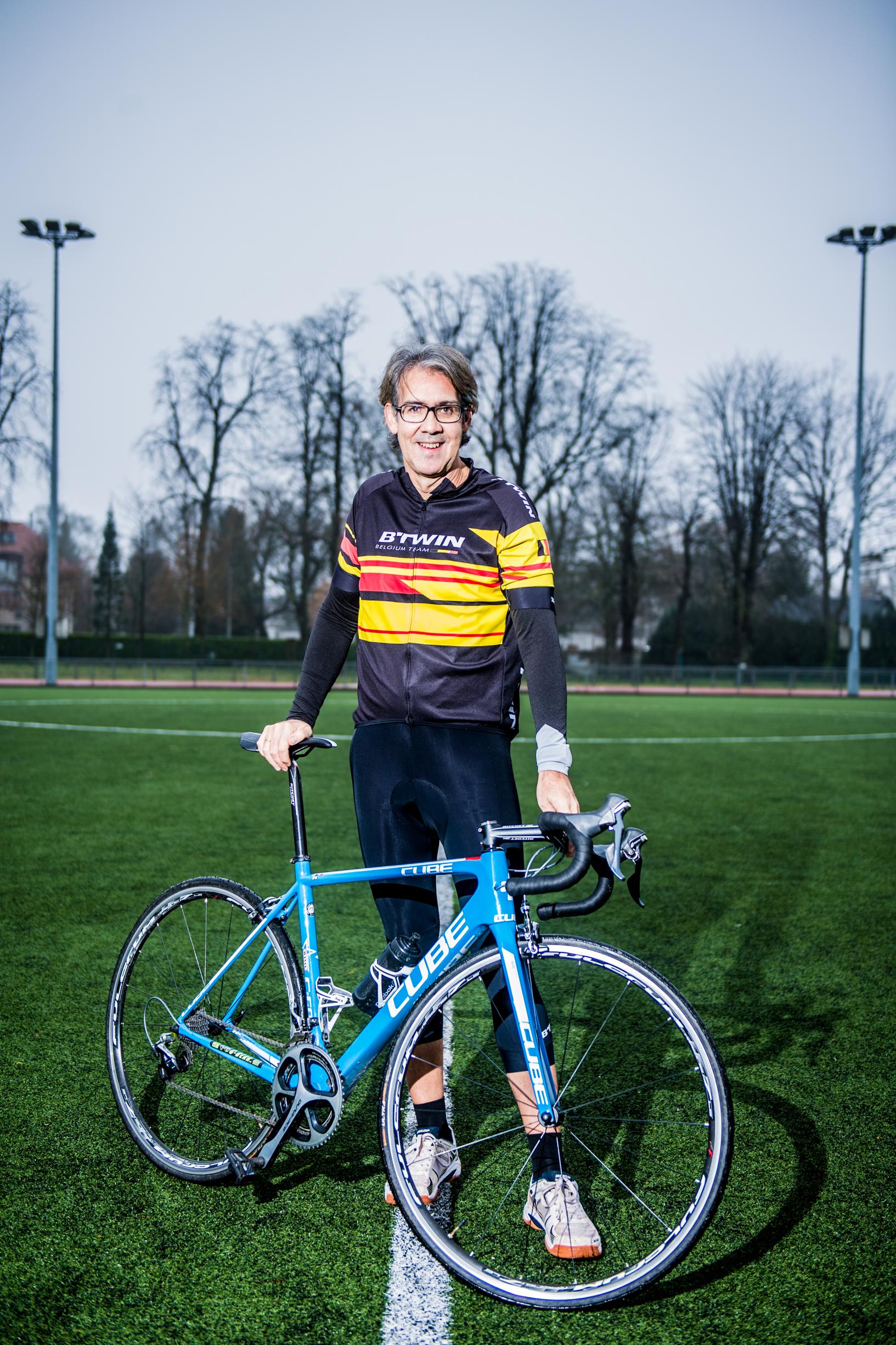 BRUXELLES,  Portrait Rodrigo  Beenkens Journaliste Sportif RTBF.GOLINVAUX MATHIEU./LESOIR