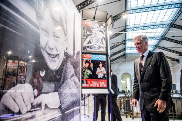 BRUXELLES, Le Roi Philippe Visite L Exposition Pour Les Nonante Ans Du Soir Mag SoirMag Soir Magazine  90 Ans Musees Royaux D Art Et D Histoire.GOLINVAUX MATHIEU./LESOIR