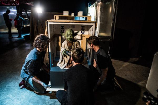 BRUXELLES, Exposition Star Wars Identities Star Wars Identites Arrivee Marionnette Maitre Yoda.GOLINVAUX MATHIEU./LESOIR