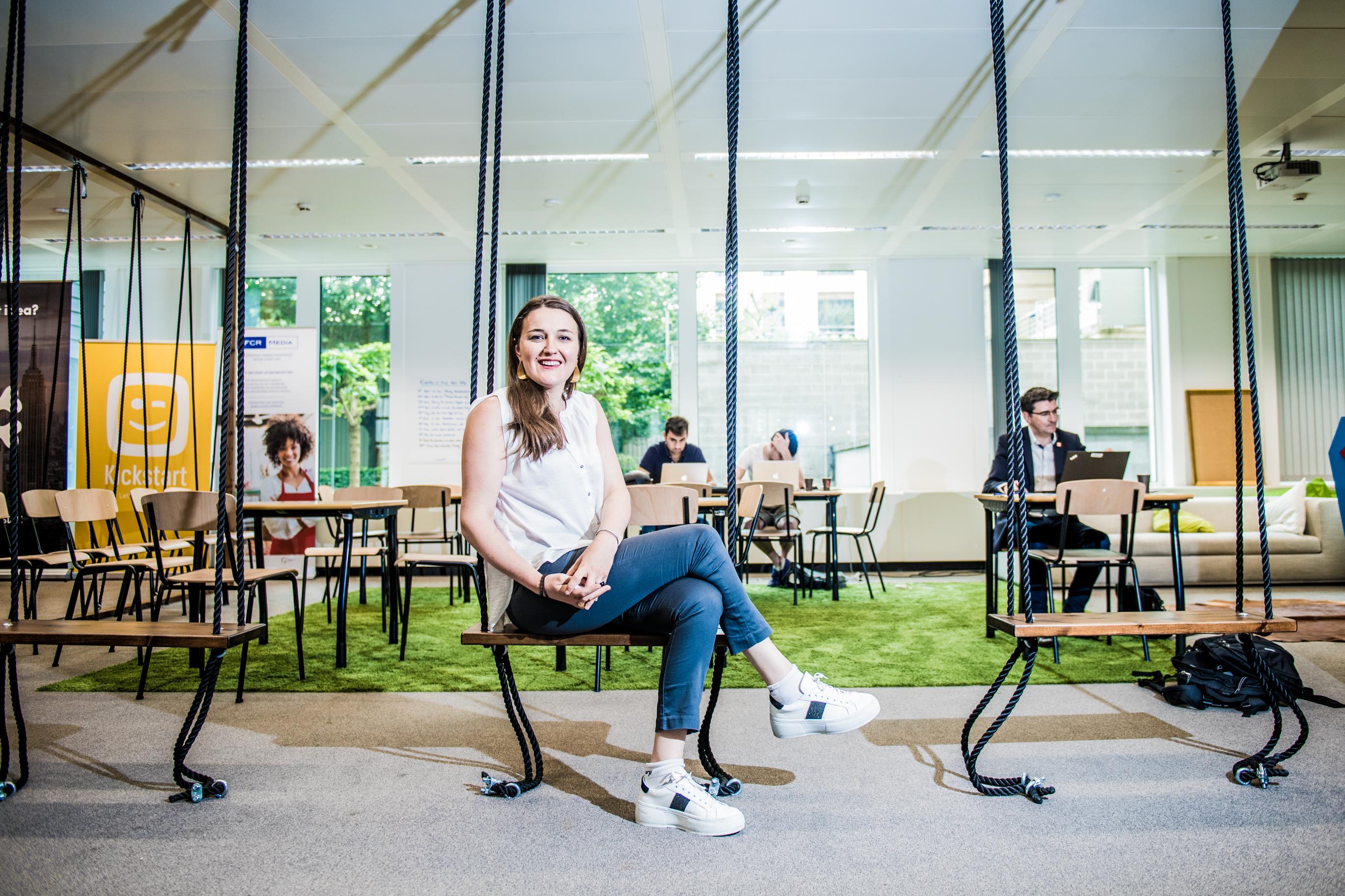 BRUXELLES, portrait Segolene Martin fondatrice de la start-up Kantify.GOLINVAUX MATHIEU./LESOIR