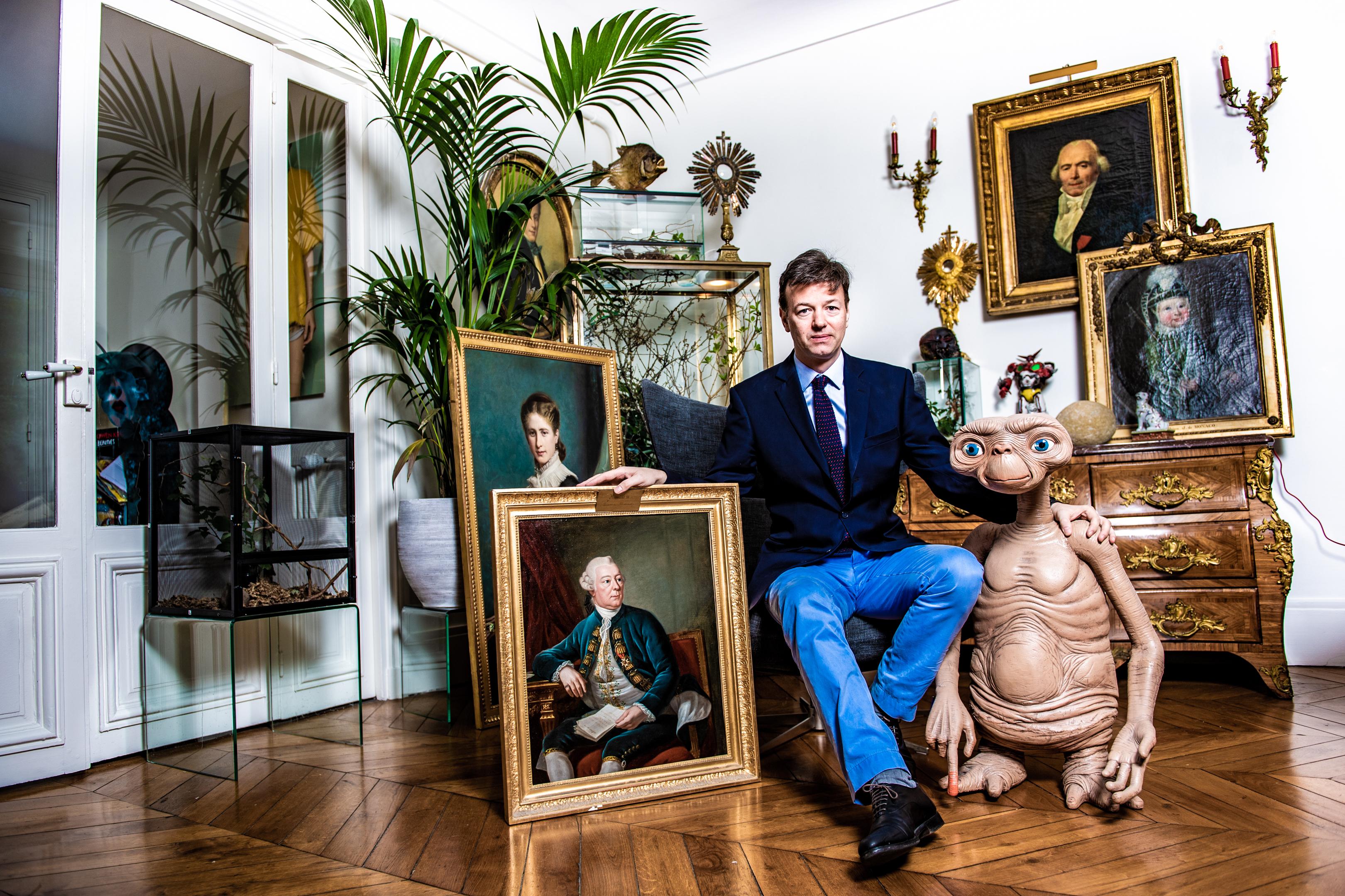 PARIS, Interview Et Portrait De Louis De Causans Et Son épouse Qui Conteste La Succession Monegasque.GOLINVAUX MATHIEU./SOIRMAG