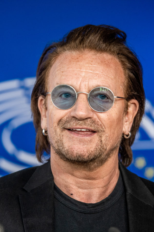 Brussels , 10/10/2018 Bono Of The Rock Band U2 Visits The European Parliament . Pix : Bono Credit : Mathieu Golinvaux / Isopix