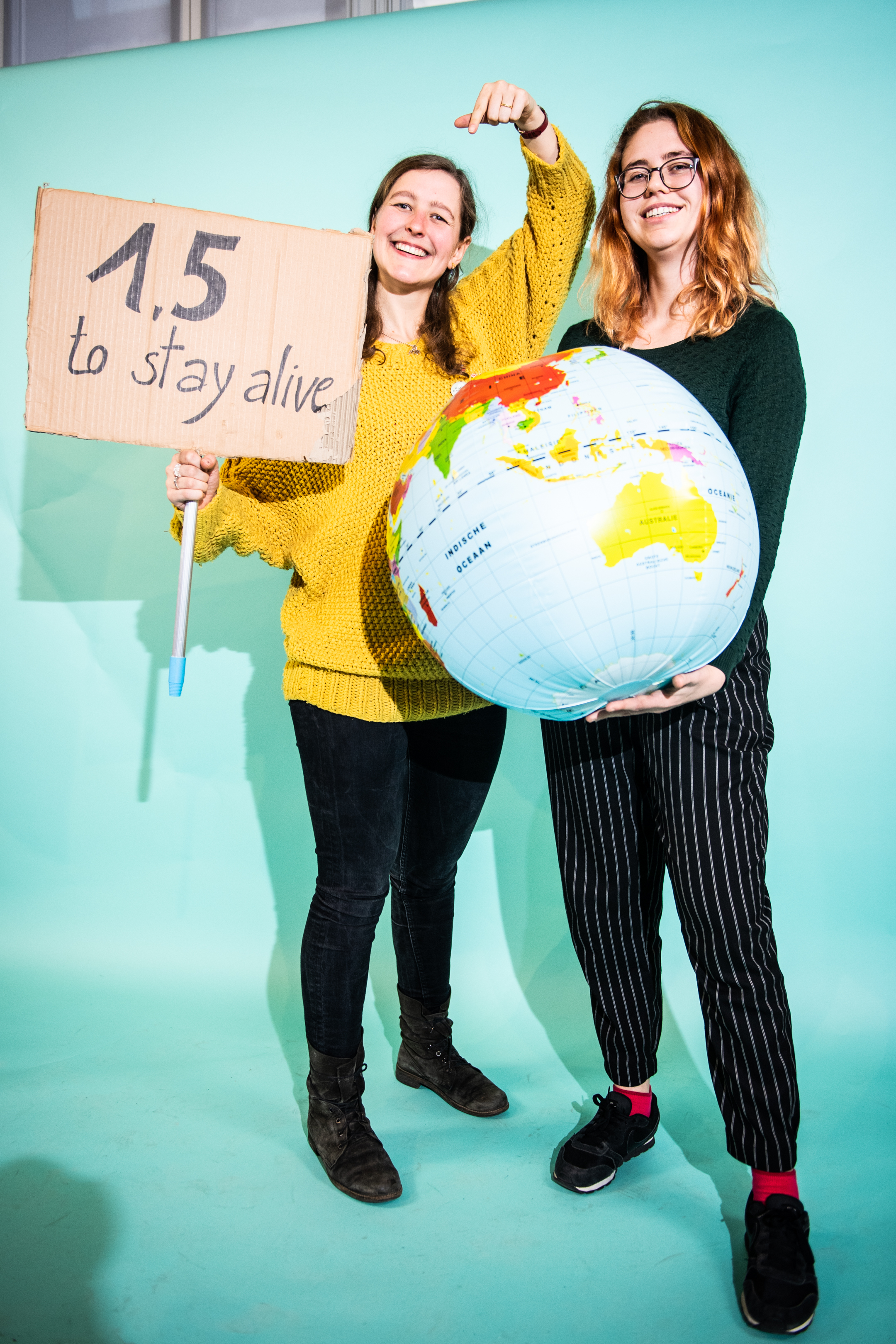 BRUSSELS, BELGIUM, On December 06, 2018.  Herlinde Baeyens And Nele Van Hoyweghen, The Two Girls From The Flemish Youth Council Who Go To The Climate Summit In Poland.  Pictured In Brussels, Belgium, On 06/12/2018. ( Photo By Mathieu Golinvaux / Photo News )        PICTURE NOT INCLUDED IN THE CONTRACT.  ! Only BELGIUM !