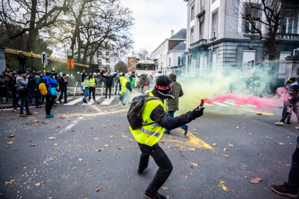 BRUXELLES, Manifestation Gilets Jaunes Bruxelles Protest Of The Yellow Vests.GOLINVAUX MATHIEU./LESOIR