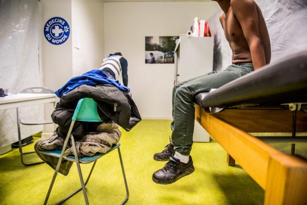 BRUXELLES, Hub Humanitaire Du Parc Maximilien De Medecins Du Monde Migrants.GOLINVAUX MATHIEU./LESOIR