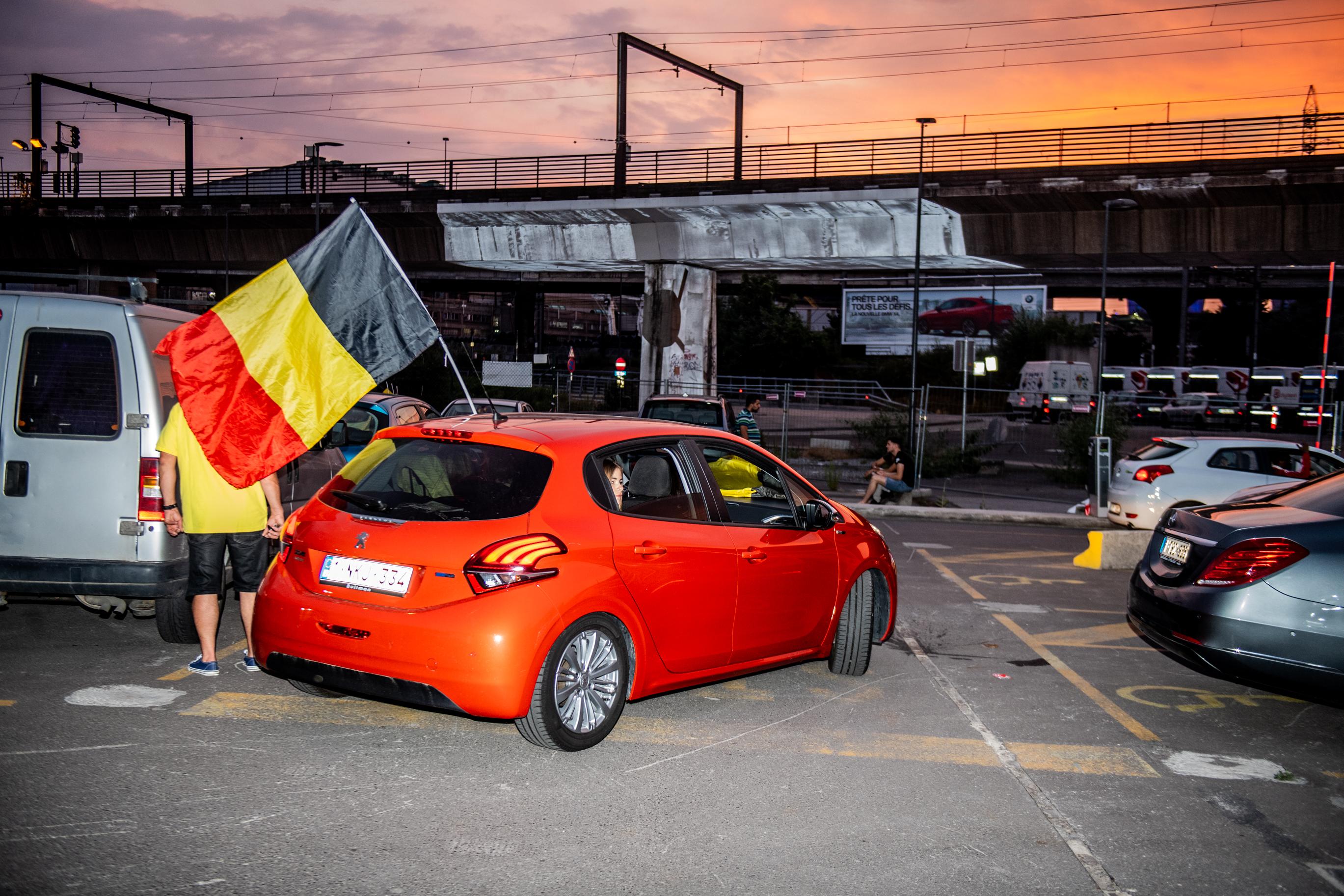 CHARLEROI, Coupe Du Monde Bresilie Belgique Quart De Finale Ambiance Supporters Charleroi.GOLINVAUX MATHIEU./LESOIR