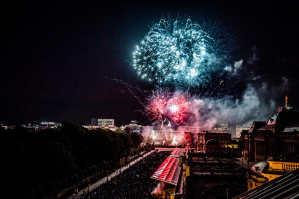 BRUXELLES, Festivite Fete Nationale 21 Juillet Feu D Artifice Place Des Palais.GOLINVAUX MATHIEU./LESOIR
