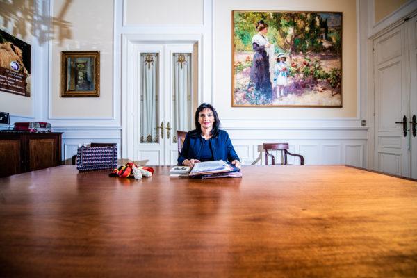 BRUXELLES, Une Journee Avec La Bourgmestre D Ixelles Dominique Dufourny.GOLINVAUX MATHIEU./SOIRMAG