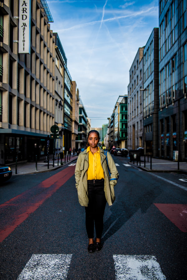 BRUXELLES, Une Page Consacree Au Racisme Evoque Par Des Gens Qui En Sont Les Victimes Portrait Sarah Kawaya.GOLINVAUX MATHIEU./LESOIR