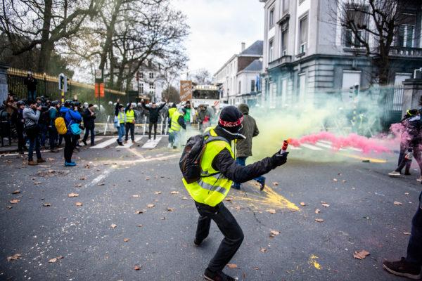 BRUXELLES, Manifestation Gilets Jaunes Bruxelles Protest Of The Yellow Vests.GOLINVAUX MATHIEU./LESOIR
